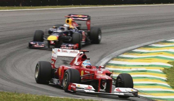 Alonso in Vettel
