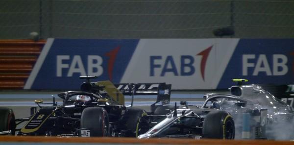 Bottas po najhitrejšem času trčil z Grosjeanom, trčil tudi Leclerc