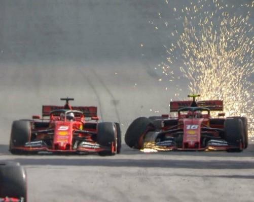 Ferrari: Vettel in Leclerc se zavedata, da je bilo trčenje v Braziliji nesprejemljivo